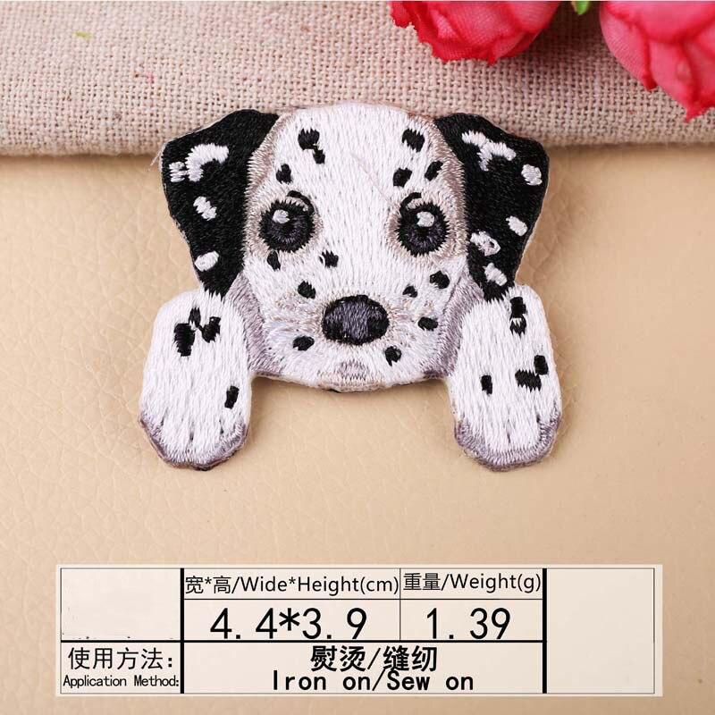 1 шт., нашивка для вышивания собаки, термопередача, гладить на вышивать на пачках для одежды DIY, футболка, тканевая наклейка, декоративные аппликации 47267 - Цвет: I