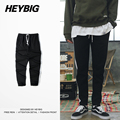 2017 new arrivals Striped Trousers HEYBIG men HIP HOP pants Youth street Clothing Asian size!! elastic waist with Drawstring