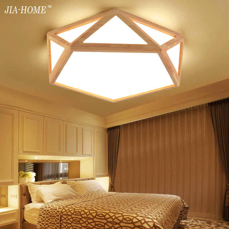 Фото Creative Wooden LED ceiling lighting ceiling lamp for the living room bedroom Lamp for the hall ceiling lamp for Designer