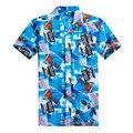 2017 New Arrival Summer Mens Hawaiian Shirt Slim Fit Fashion Short Sleeve Men Casual Shirt L-4XL (Asian Size)