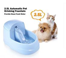 Pet Drinking Fountain Dog Feeder Cat Bowl Automatic Water  Food Dispenser