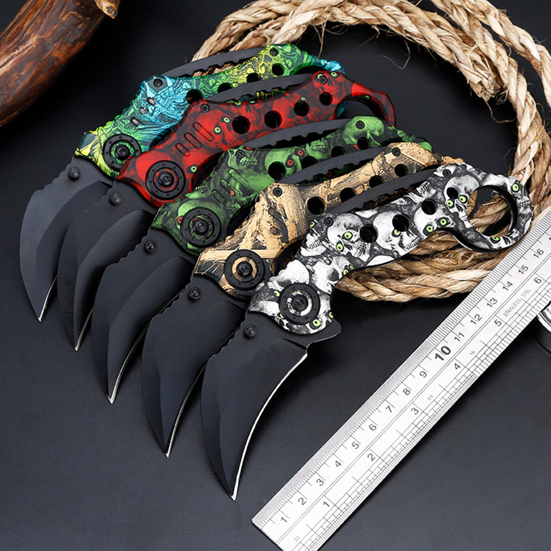 Outdoor CSGO Camping Hunting Tools Multi Function Pocket Knife Combat Fighting Fold Blade Karambit Tactical Survival Knives image
