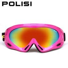 Polisi gafas de esquí de la nieve del invierno mujeres de los hombres uv400 esqui snowboard deportes gafas protectoras gafas anti-vaho gafas de esquí patineta