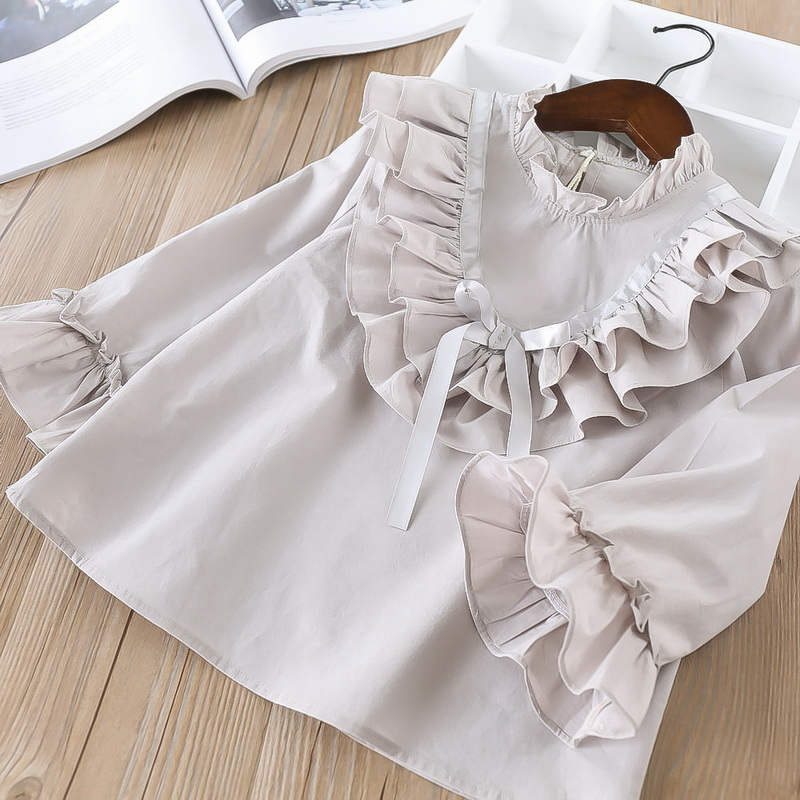45-4-baby girl ruffles Solid blouses