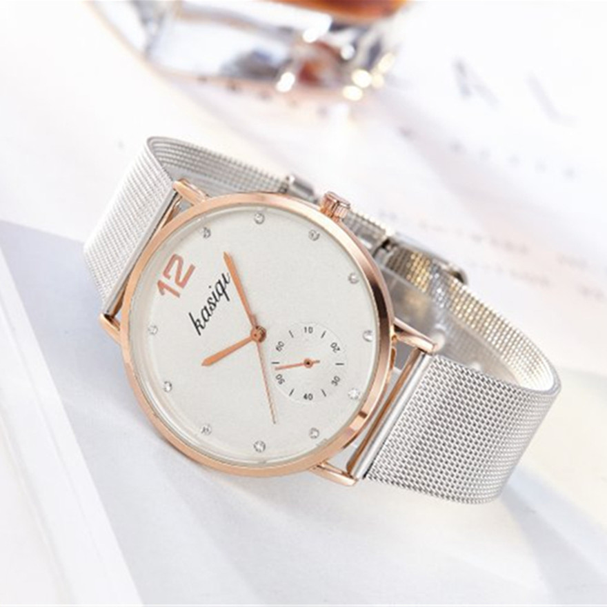 Clearance SaleStainless Steel Rhinestone Couple Watches Man And Ladies 2019 Luxury Quartz Wristwatch For Lovers Unisex Watch Montres Femme Hot
