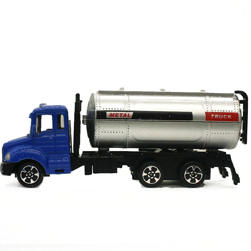 1:64 Mini Toys Cars Model Alloy Plastic Fuel Tank Car Trucks Engineering Car Model Display Stand Gift For Kids (L:W:H)17:4:8CM
