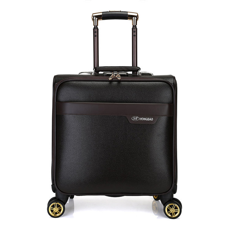 Rolling Luggage,Women Bag with wheel,PU Leather Commercial Suitcase,Men Soft Shell Travel Box with Password Lock High-grade case vintage suitcase 20 26 pu leather travel suitcase scratch resistant rolling luggage bags suitcase with tsa lock