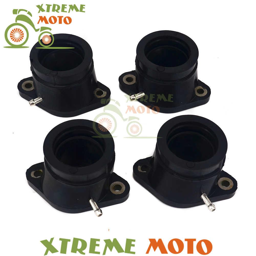 4 adet Kauçuk Motosiklet Karbüratör Carb Emme arabirim adaptörü Bağlantı Borusu Manifoldu Yamaha XJR1200 95-99 XJR1300 98- 06