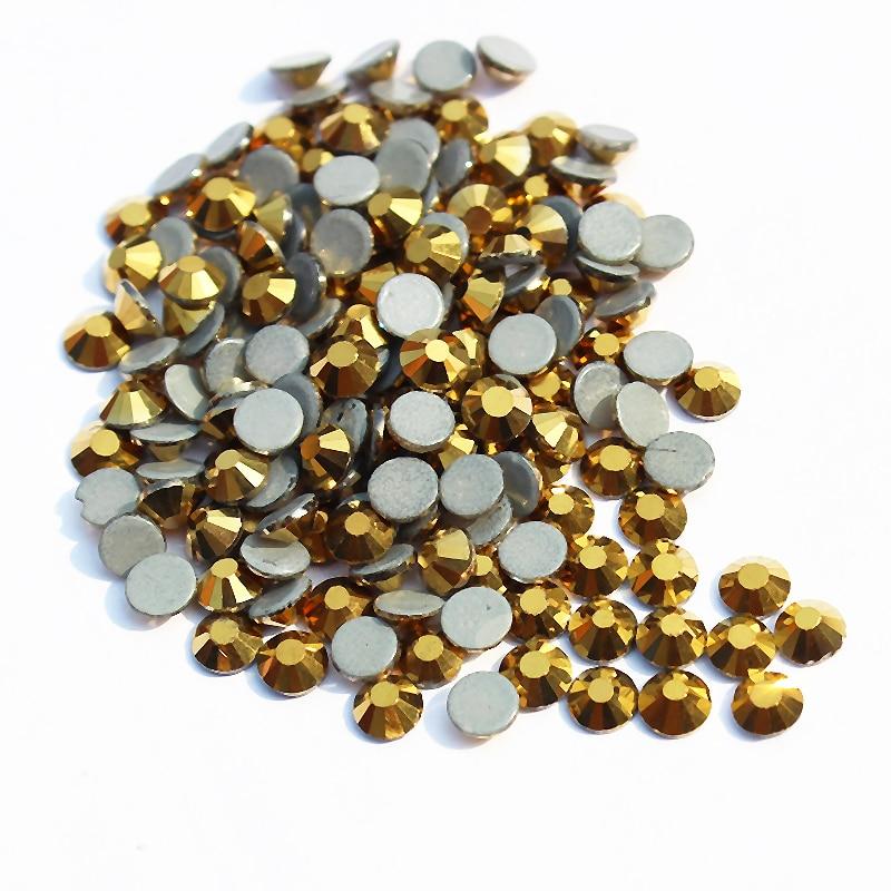 Strass DIY Giyim Aksesuarları üzərindəki SS30 Mine Gold Hotfix - İncəsənət, sənətkarlıq və tikiş - Fotoqrafiya 2