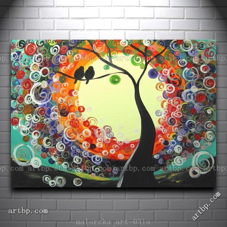 ivory dream malorcka acrylic painting tree love birds art supplies