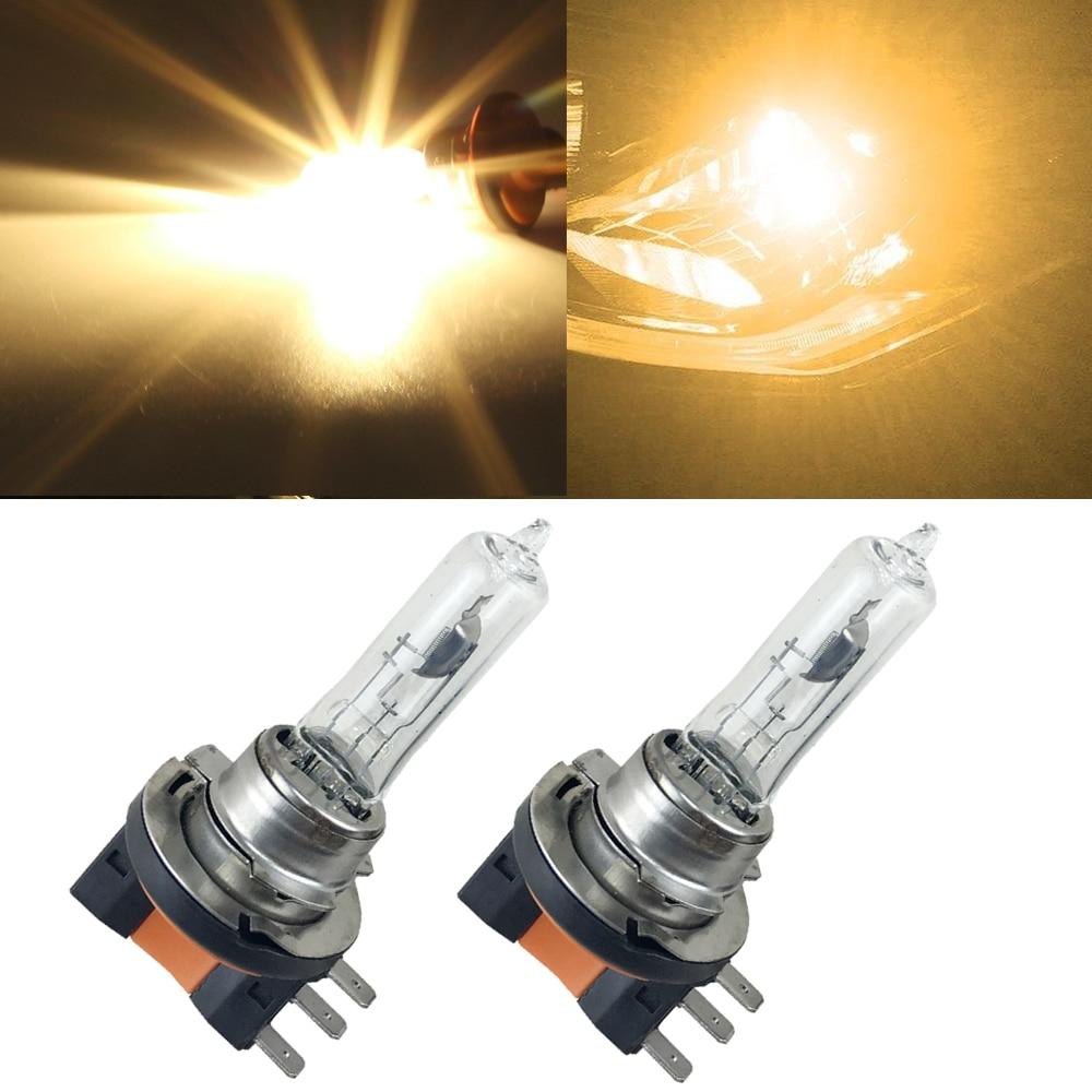 2pcs/lot H15 Halogen Bulbs 4300K PGJ23t-1 64176 Headlamp High Beam/Low Beam DRL 15/55w For GOLF MK6 TOUAREG For AUDI A5 A6