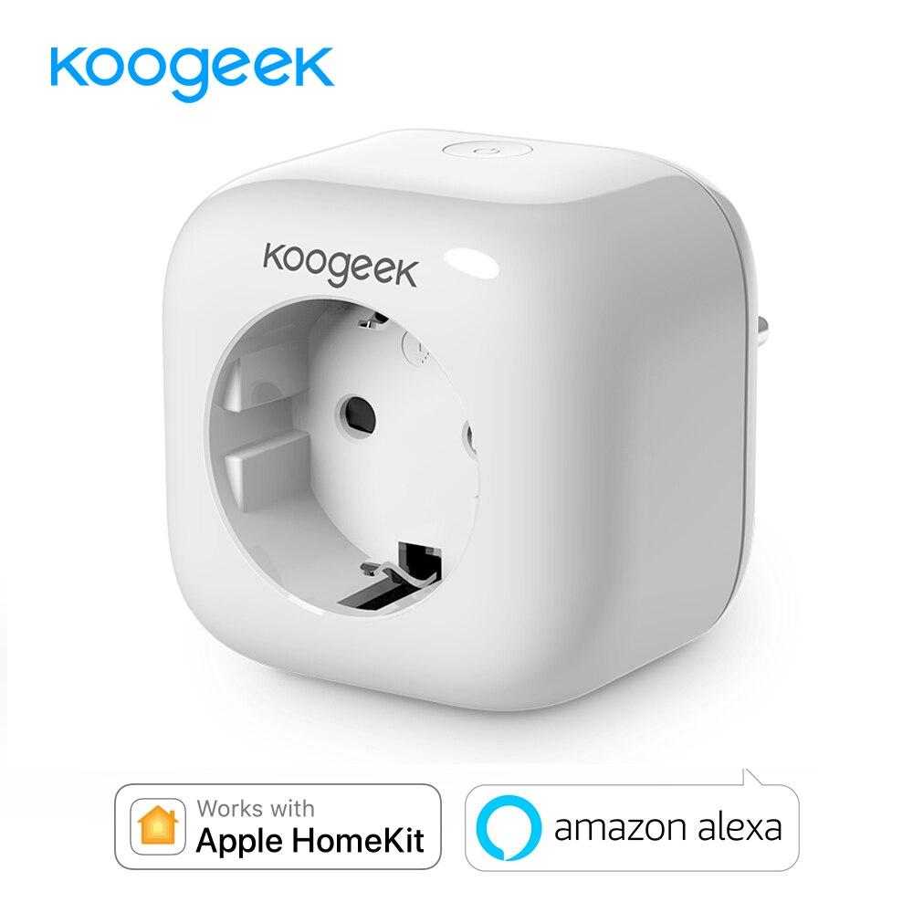 Koogeek Smart Socket Plug for Apple HomeKit Alexa Wifi Socket Support Remote Control via Siri / Alexa for iOS / Android EU Plug цена