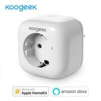 Koogeek Smart Socket Plug for Apple HomeKit Alexa Wifi Socket Support Remote Control via Siri / Alexa for iOS / Android EU Plug Smart Remote Control