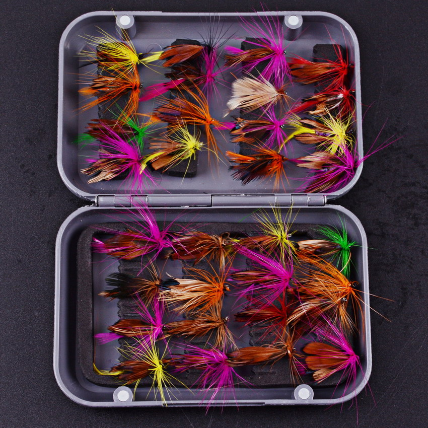 32pcs/sets Assorted Color Salmon Steelhead Fly Fishing Tube Flies Combo Sea Bass Teasers