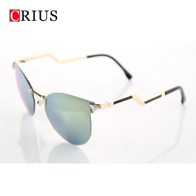 d de la mujer gafas de sol para las mujeres flechas espejo sin marco gafas de