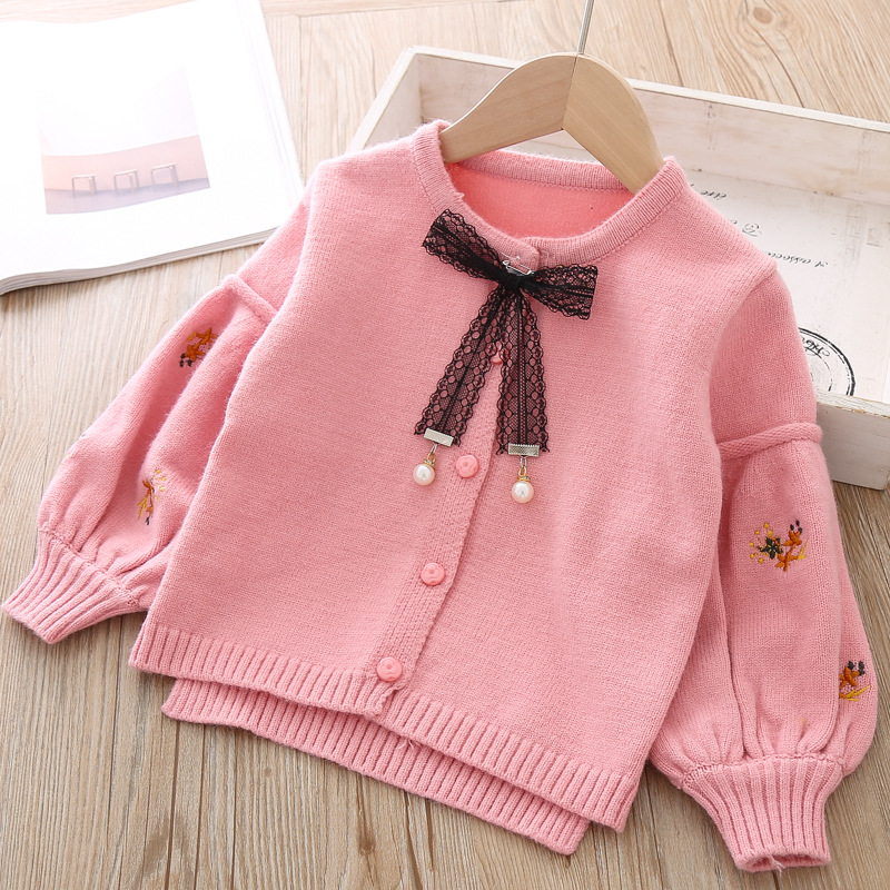 Image 3 - Cotton Baby Jacket Cardigan For girl Kids Sweater Korean Long Sleeve Coat Toddler Girls Knitted Outerwear Winter Autumn Clothes-in Jackets & Coats from Mother & Kids