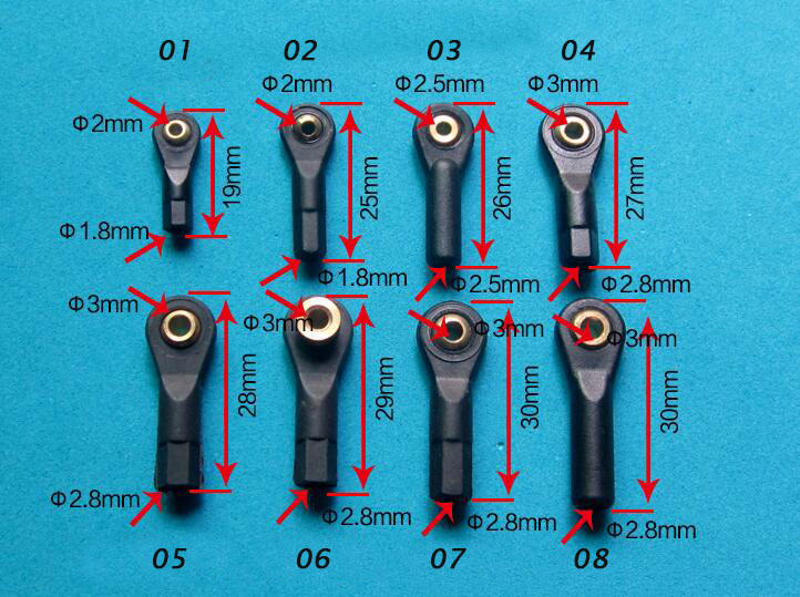 20Pcs Plastic M2/M3 Rod End Ball End Wear Resisting Ball Joint With Screw 2mm/3mm For Rc Boat Car Airplane Truck Buggy Crawler ball head holder tie rod end m3 3mm thread 18mm length aluminum link rod end ball joint ball link for rc cars hpi hsp axial page 5