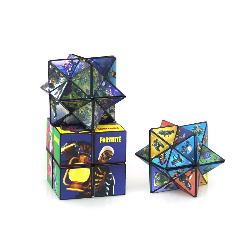 2 In 1 Cartoon Movie Pic Magic Cube Children Adults Puzzle Stress Relex Toys Magical Block Leisure Fidget Rubix Kid Brain Cube