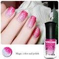 Nail Art Color Changing Polish 6ml Rose Red to Transparent DIY Tips Decorations Varnish Nail Art Polish  8238009
