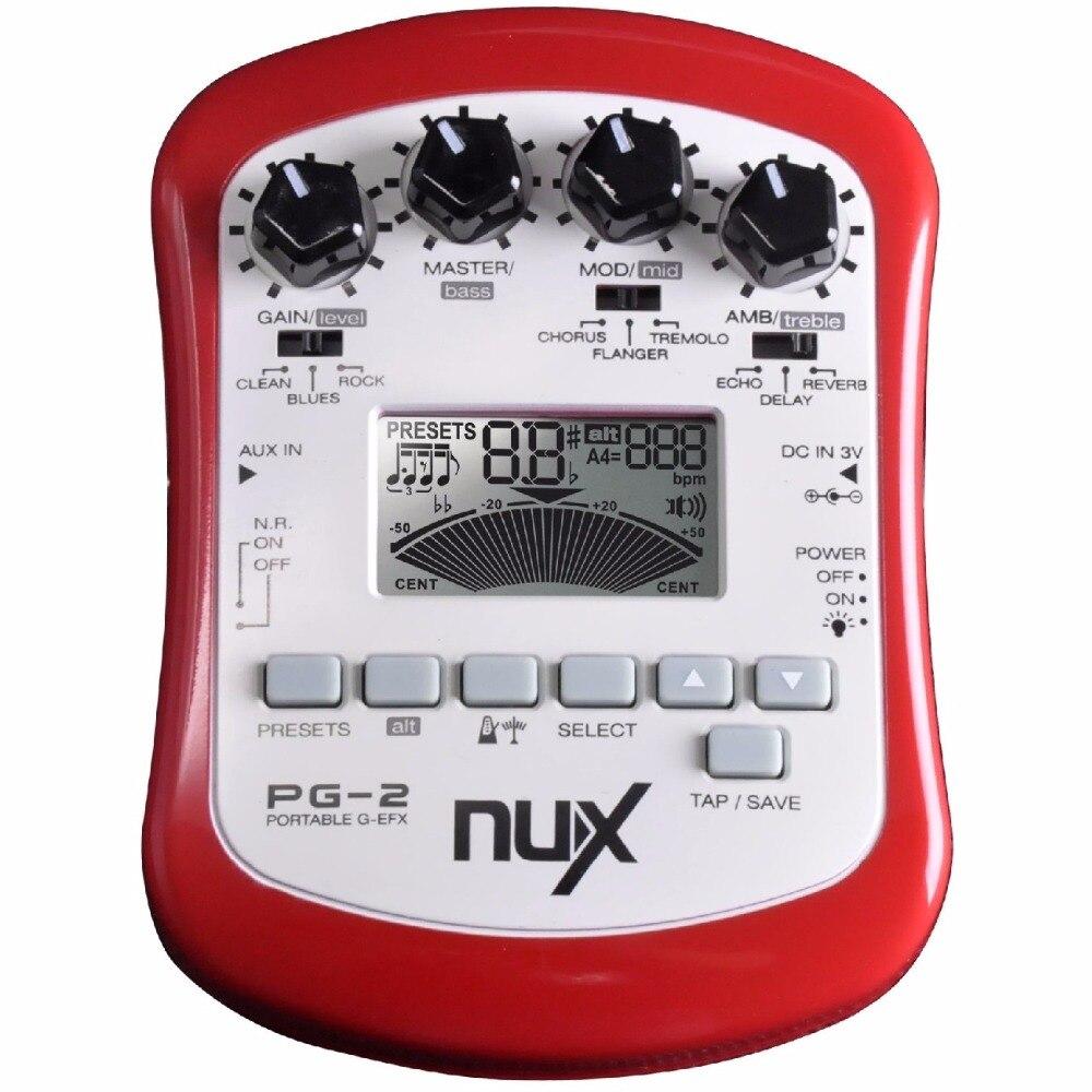 nux pg 2 multiple electric guitar effect pedal portable guitar pedal professor 3 pre amp 6. Black Bedroom Furniture Sets. Home Design Ideas