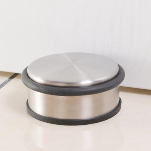 Free-Door-Stopper Wind-Resistance Rubber Anti-Collision F-Hardware Stainless-Steel Glass