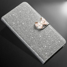 ZOKTEEC Luxury New Hot Sale Fashion Sparkling Case For Huawei Y6 2018 Pro 2019 prime Cover Flip Book Wallet Design