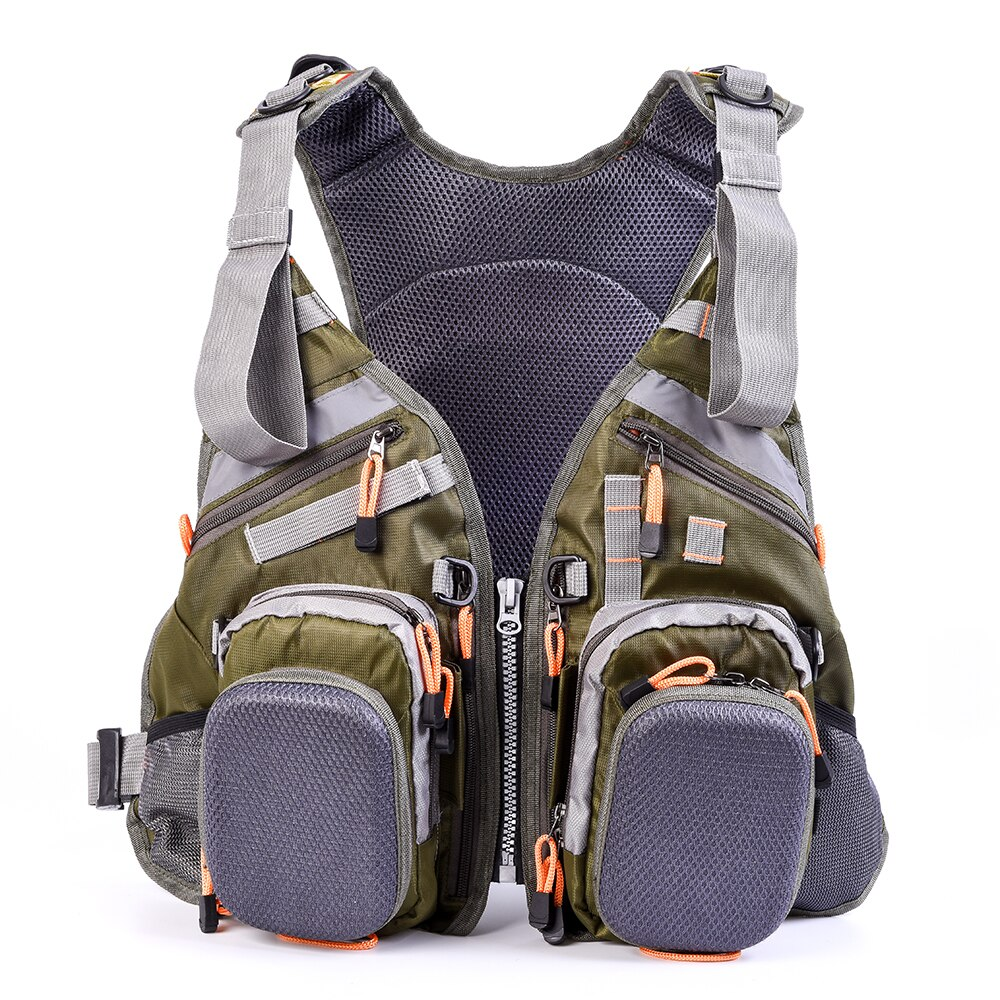 Blusea Mesh Fly Fishing Vest Backpack Breathable Outdoor Fishing Vest Drifting Jacket Water sports Life Vest For Water sports