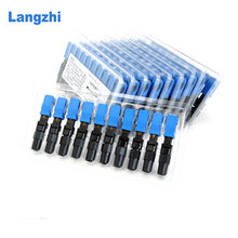 langzhi 200 Stuks SC UPC Snelle Connector Ingebed Connector FTTH Tool Koude Fiber Fast Connector SC-SC(China)