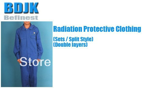 Radiation Protective Clothing Sets with Metal Fibrosis Conductive Fabric 2 Layers Protection Suit and Working ClothesRadiation Protective Clothing Sets with Metal Fibrosis Conductive Fabric 2 Layers Protection Suit and Working Clothes