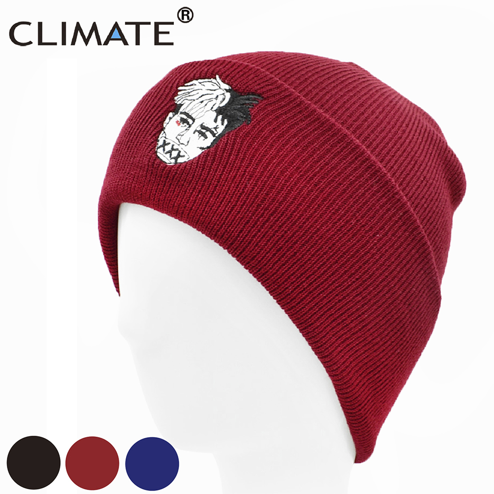 CLIMATE Rapper   Beanies   Hat Men Xxx Dreadlocks Hat Cap   Beanies   for Men Women Knitted Winter Hat Hip-hop Cap Hats