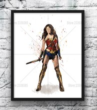 Obraz diamentowy DIY Cross Stitch Cartoon Wonder Woman kryształki górskie haft diament diament mozaika Grill Room Decor prezent(China)