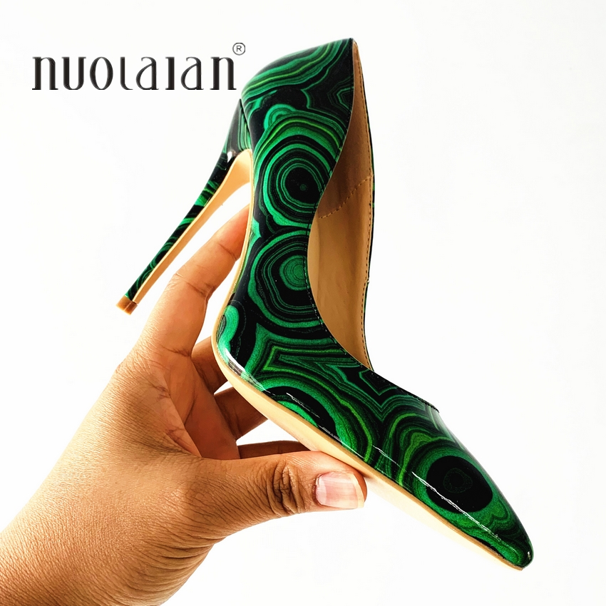 2019 Brand Fashion Women Shoes Green Patent Leather Sexy Stilettos High Heels 12cm/10cm/8cm Pointed Toe Women Pumps2019 Brand Fashion Women Shoes Green Patent Leather Sexy Stilettos High Heels 12cm/10cm/8cm Pointed Toe Women Pumps