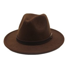 oZyc New Fashion Style Wide Brim Women Felt Hat  Wool Soild