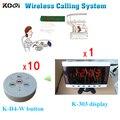 CE 433.92 MHZ Wireless Camarero Llamando Botón Dispositivo Sistema de Buscapersonas Coaster