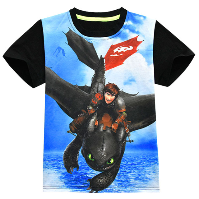2019 Boy Summer T Shirt How To Train Your Dragon 3 Kids Tops Tee T-shirts Sports Wear Casual Clothes Children T-Shirt