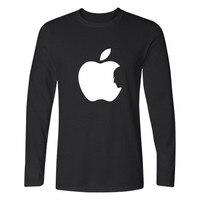 Steve Jobs Apple Design Funny impreso T Shirt hombres manga larga Camisetas y Apple clásico Funny en algodón camisas