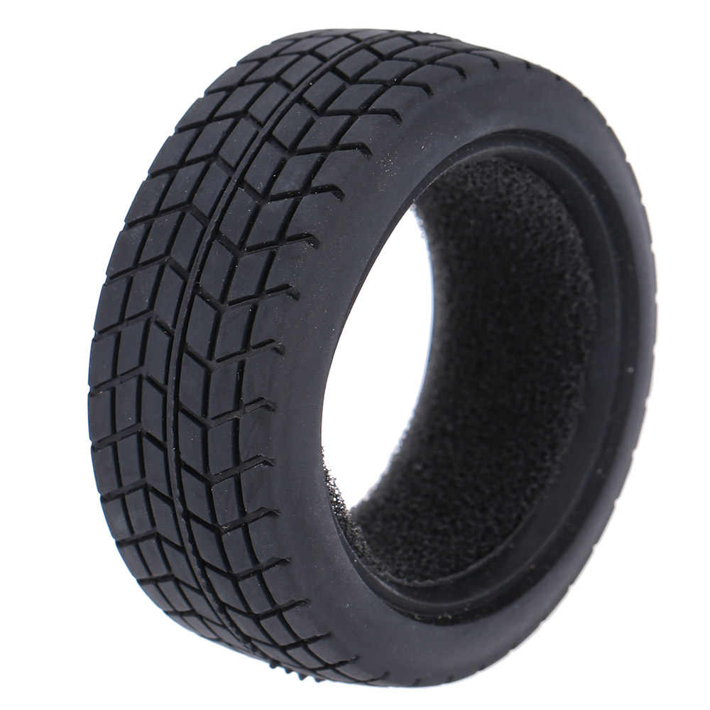 4 stks/set Graan Run-flat Auto Rubber Tyre Wheel voor Traxxas Tamiya HPI Kyosho 1/10 On-Road Run -flating RC Auto