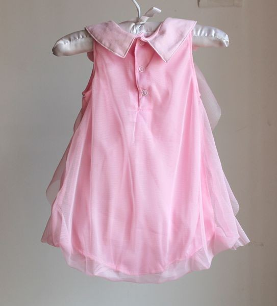Girls Dress 2017 Summer Chiffon Party Dress Infant 1 Year Birthday Dress Baby Girl Clothes Dresses & Headband Vestidos 6