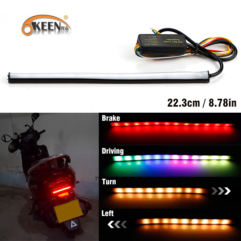 Okeen 1pcs Universal Moto Break Light