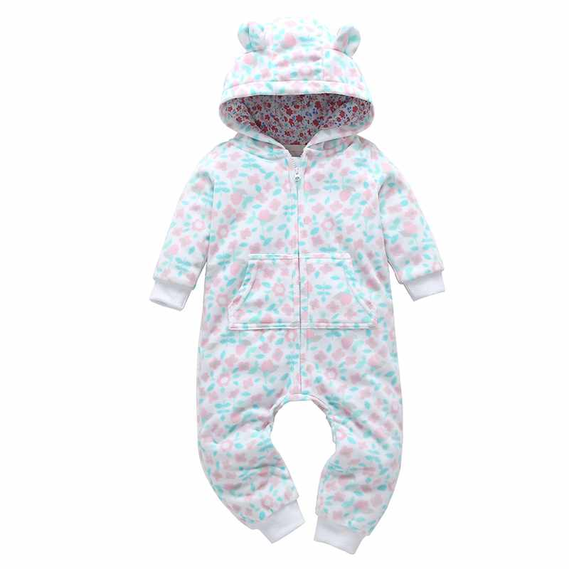 Winter   Rompers   Newborn Baby girl Boys Clothes Children Jumpsuit Cotton Overalls Kids Christmas snowsuit Hoodies warm Clothing