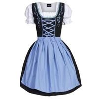 Dirndl Bavarian Wench German Oktoberfest Beer Maid Costume Fancy Dress Outfit