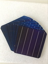 """10 יחידות 5 w 156.75*156.75 מ""""מ פוטו מונו פנל סולארי תא 6x6 כיתה יעילות גבוהה עבור DIY Monocrystalline הסיליקון פנל"""