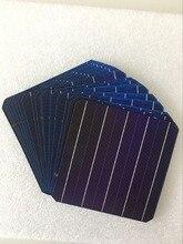 10 pièces 5 W 156.75*156.75 MM photovoltaïque Mono panneau solaire cellule 6x6 Grade A haute efficacité pour bricolage panneau de silicium monocristallin