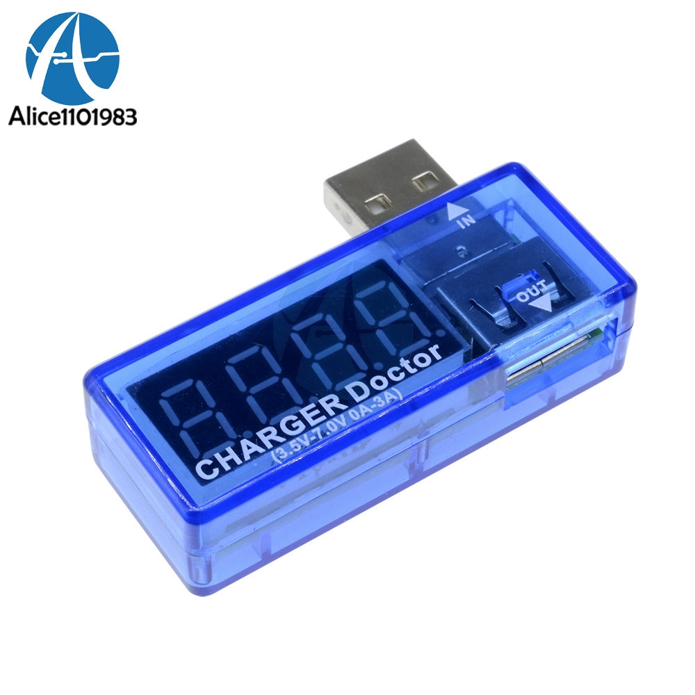 Kw-201 Digital Display Hot Mini Usb Power Current Voltage Meter Tester Portable Mini Current And Voltage Detector Charger Doctor With A Long Standing Reputation Electronic Components & Supplies