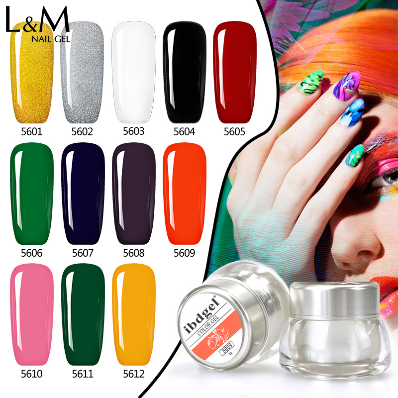 3 Unidades Set Kit ibdge Marca Pintura Gel Esmalte Nail Art Color 3D Dibujo Pintura Curado Lámpara Soak Off Professional Nails Top It Off