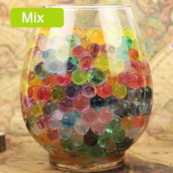 P015 Wholesale large big size crystal soil water beads color flower mud jumbo water beads clay