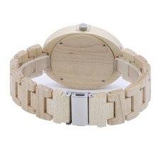Watch in Women's Watches 2018 New year gift  Fashion Maple Surface Quartz Core Meiden Horloge Wood Watch