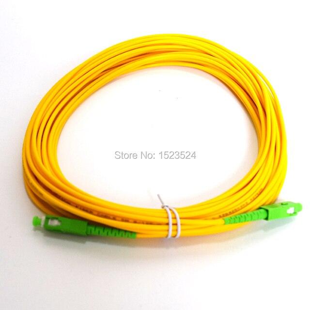 Cabo de remendo da fibra ótica do sc/APC SC/apc do cabo de ligação em ponte da fibra ótica dos medidores sc/apc do pvc 3mm de sx de sm 15