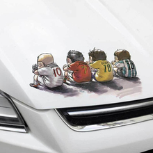4PCS Car Stickers Car Styling Decor Football Sports Reflective Decorative Art Car Accessories Sticker sports mind car covers reflective material car stickers decal car styling for peugeot 106 reflective sticker car accessories