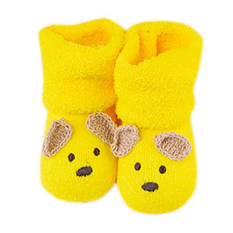 0 -12M Newborn Baby Socks Unisex Boy Girls Cute Bear Crib Warm Shoes Toddler bebe Sapatos